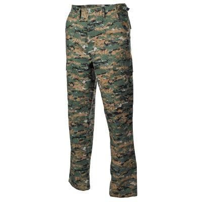 Hlače MFH US BDU Field Pants, Rip Stop, digital woodland   XL