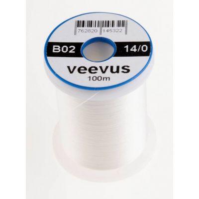 Nit za vezavo muh Veevus thread 14/0 100m | B02 WHITE