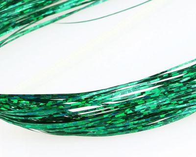 Bleščice | material za vezavo SYBAI Holographic Tinsel Hair | Green