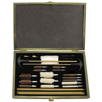 Set za čiščenje orožja MFH Cleaning Kit, universal, for gun/pistol, wooden box | 27385