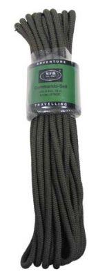 Pletena vrv MFH Rope 9 mm - olivna (15 m)