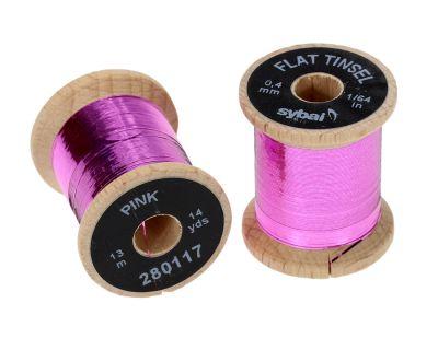 Material za vezavo SYBAI Flat Tinsel, 0.4 mm | Pink