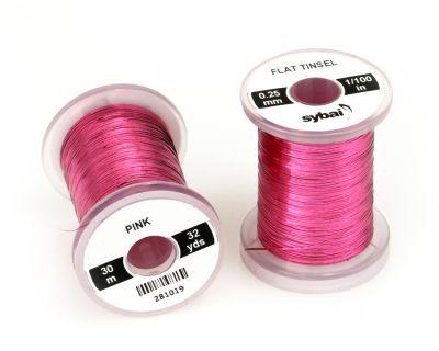 Material za vezavo SYBAI Flat Tinsel, 0.25 mm, Pink