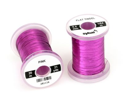 Material za vezavo SYBAI Flat Tinsel, 0.4 mm, Pink