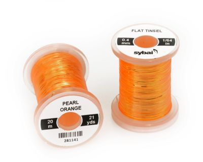 Material za vezavo SYBAI Flat Tinsel, 0.4 mm, Pearl Orange