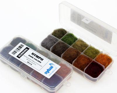 Material za vezavo SYBAI tackle Nymph Dubbing, Box, Dark Colors | 423396