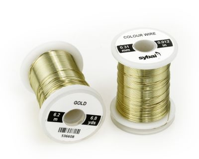 Žica za povijanje muh SYBAI Colour Wire, 0.31 mm, Gold