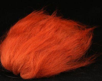 Material za vezavo potezank islandska ovca SYBAI tackle Icelandic Sheep Hair   Rusty Red