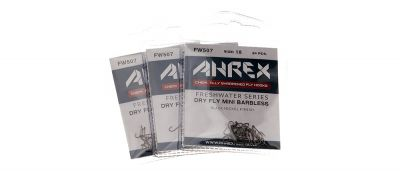 Muharski trnki AHREX hooks FW507 – Dry Fly Mini – Barbless | #18