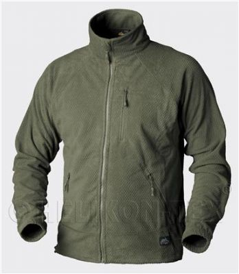 Flis jakna Helikon-Tex ALPHA Jacket Grid Fleece (Olive Green)