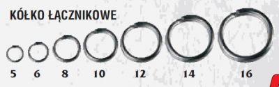 Obročki | split rinke Traper BUSHIDO Split ring 10kos | 12 mm