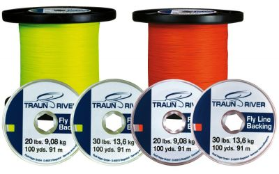 Backing TRAUN RIVER Fly Line Backing 20 lbs 50 yds | oranžen