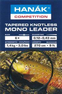 Predvrvica za muharjenje HANAK COMPETITION Tapered Knotless Mono Leader | 4x camouflage