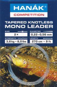 Predvrvica za muharjenje HANAK COMPETITION Tapered Knotless Mono Leader | 0.17mm clear
