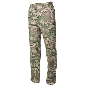 Hlače MFH US Combat Pants BDU, Rip Stop, operation camo M (medium) | 01334X