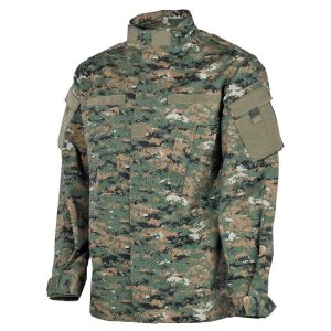 Jakna | bluzon MFH US Field Jacket ACU, Rip Stop, digital woodland | M