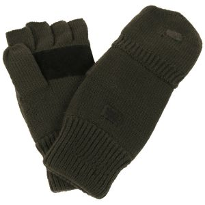 Pletene lovske rokavice MFH Knitted Gloves/ Mittens, OD green, with lining | M