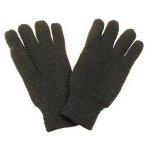Pletene lovske rokavice MFH Knitted Gloves, thermal lining, OD green | M