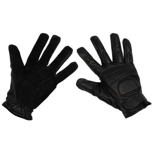 Usnjene rokavice MFH Leather Gloves, black, padding, suede reinforcement