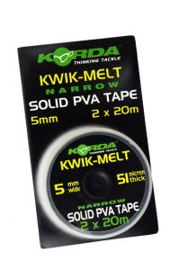 PVA trak Korda KWIK-MELT NARROW SOLID PVA TAPE 5mm 2X20m | KEMT5