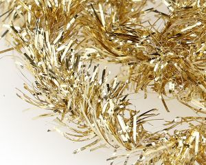Material za vezavo potezank SYBAI Tinsel Chenille, Metallic Gold