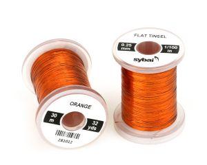 Material za vezavo SYBAI Flat Tinsel, 0.25 mm, Orange