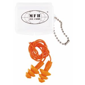 Zaščitni čepki za ušesa MFH Earplugs, orange, with case | 28711