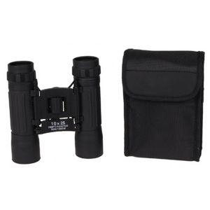 Dvogled | daljnogled MFH Binocular, 10x25, Ruby lens, black, foldable, pocket | 34663A