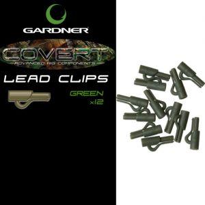 Sponke za krapolov GARDNER Covert Lead Clips zelene