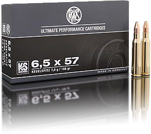 Strelivo   naboji RWS 6,5x57 KS 8.2g   20 kos