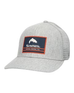 Muharska kapa Simms Original Patch Trucker Heather Grey
