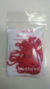 Čenile - chenille za vezavo umetnih muh 2m | rdeča