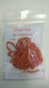 Čenile - chenille za vezavo umetnih muh 2m | oranžna