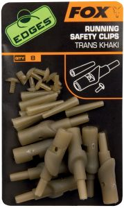 Sponke za krapolov FOX EDGES RUNNING SAFETY CLIPS - TRANS KHAKI | CAC582