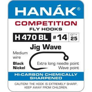Muharski trnki HANAK 470 BL Jig Wave 25 kos | #8