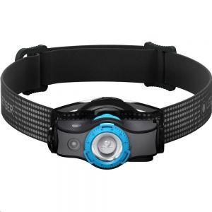 Polnilna naglavna svetilka Led Lenser MH5 | črna/modra