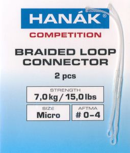 Konektor za muharsko vrvico HANAK COMPETITION Braided Loop Connectors Standard | clear