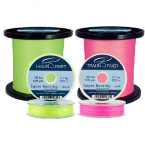 Backing TRAUN RIVER Super Backing (Gel Spun) 45 lbs 100 m | chartreuse